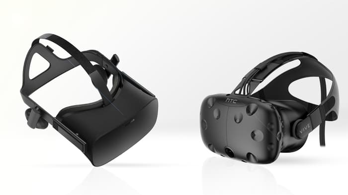oculus rift and htc vive vr headsets